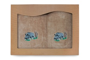 Ręczniki bawełniane - kpl 2 szt. - Dzik[72/2/D]