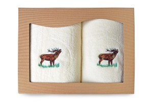Ręczniki bawełniane - kpl 2 szt. - Jeleń[72/2/J]